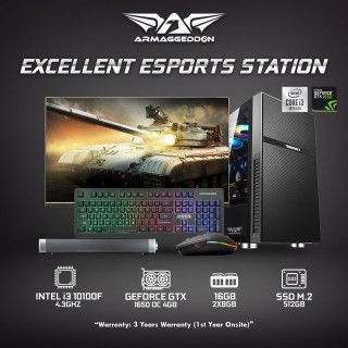 | Best Value PC | Excellent eSports Station Combo i3 10100F + 1650