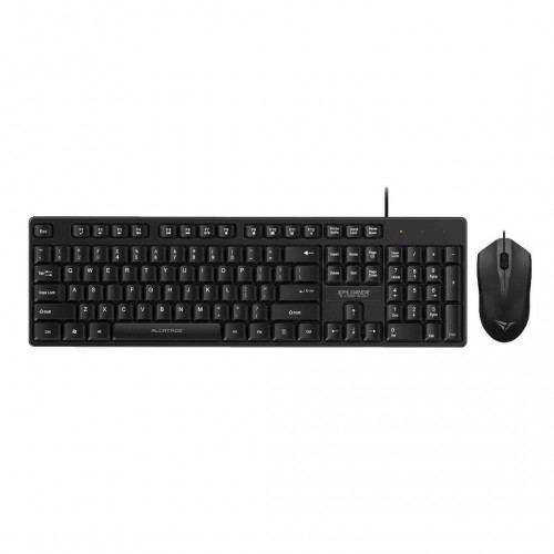 Alcatroz Xplorer C3300 Silent Click USB Wired Keyboard & Mouse Combo