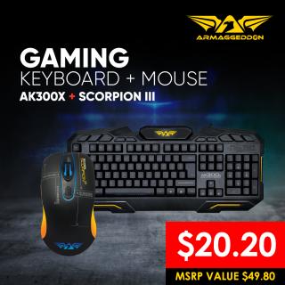 BASIC Keyboard and Mouse Bundle Deal (Scorpion 3 + AK300x)
