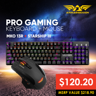 PRO Keyboard and Mouse Bundle Deal (MKO-13R + Starship-III)
