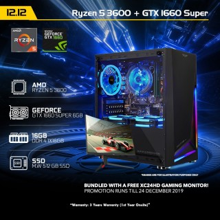 12 12 PC 2  Ryzen 5 3600 + GTX1660 SUPER