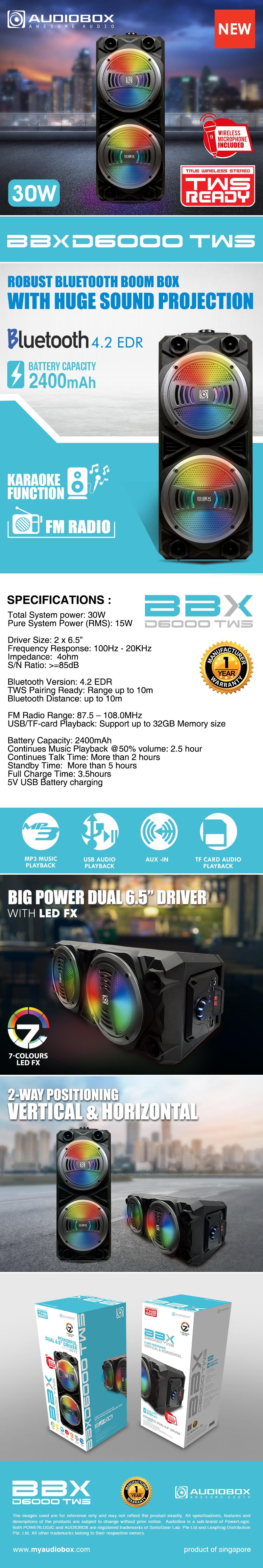 AudioBox BBX D6000 TWS
